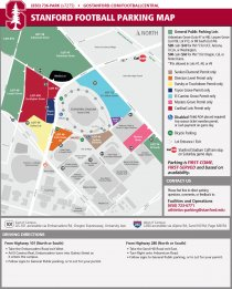 2015-16 Stanford Football Parking Map
