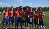 Austin Westlake hoisted the Division I trophy at the Adidas 7v7 state tournament in Texas. (Photo: Ronald Oswalt)