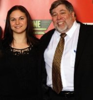 Lisa Phillips with Steve Wozniak