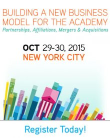 SUNYCON 2015: Building a New Business Model for the Academy - Partnerships, Affiliations, Mergers & Acquisitions. Oct 29-30 in NYC.