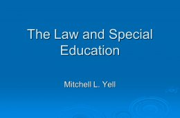 Special education system in American