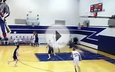 High school basketball dunk 7 foot 5 guy vs a 5 foot 5 guy