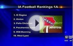 Iowa High School Football Rankings (8/31)