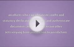 Notary public Meaning