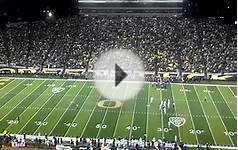 Oregon vs Stanford Football Game 2012. Fans react to Shout