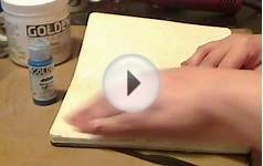 Simple Gesso Texture Art Journal Technique