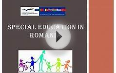 Special Education System in Romania