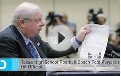 Texas high school coach who ordered players to hit referee