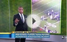 Texas High School Football Players Hit, Tackle Referee