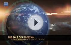 The Role of Education in Sustaining Peace & Development